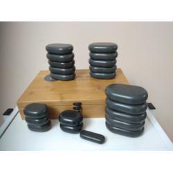 Набор массажных камней из базальта (21 шт.) - UMS-21TC