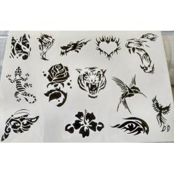Лист для временной (переводной) татуировки №2304