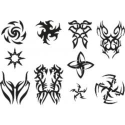 Лист для временной (переводной) татуировки №2303