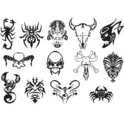 Лист для временной (переводной) татуировки №2309