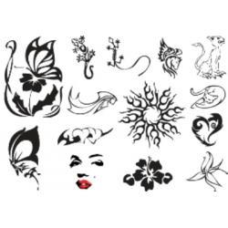 Лист для временной (переводной) татуировки №2314