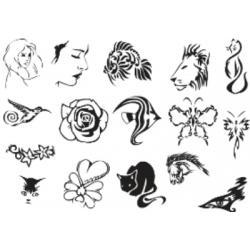 Лист для временной (переводной) татуировки №2320