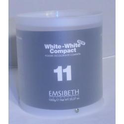 универсальный осветляющий порошок  White-White, 1 kg